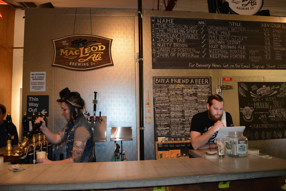 Tasting room manager Stephen Reeves and beer maiden Nicole Geletka tag- team to handle the brewery operations on any given night at MacLeod Ale Brewing Co. in Van Nuys, Calif. Photo: Lauren Holmes