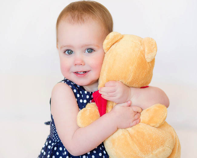 Toddler with love