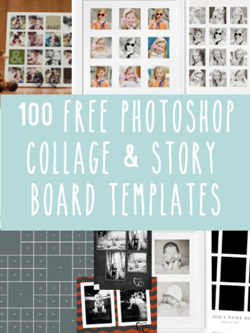 100 Free Photoshop Collage and Storyboard Templates