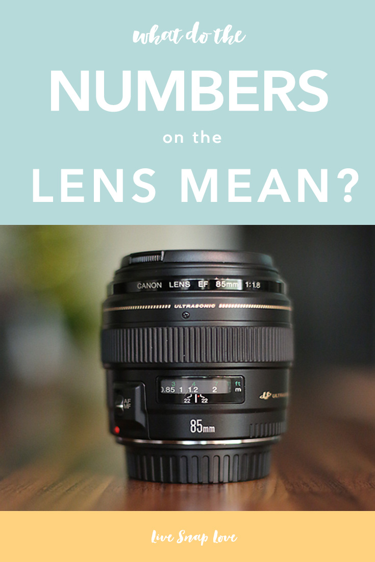A breakdown of what the numbers on the lens mean, and what to look for when choosing your own lens!