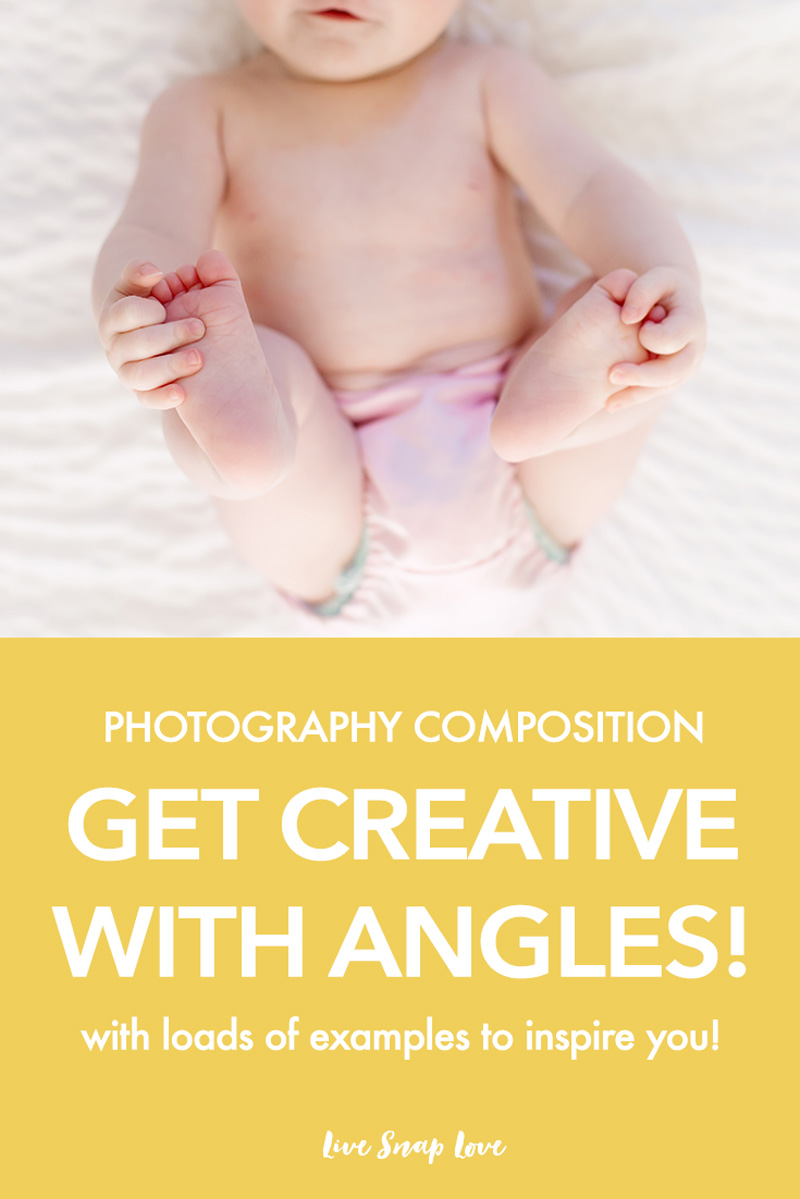 Photography Composition Tip for Beginners - Learn how to get more creative images simply by shooting from different angles! Try from above, below, behind and on level with your subject. Click through to read the tips for each one, plus see loads of examples to inspire you!