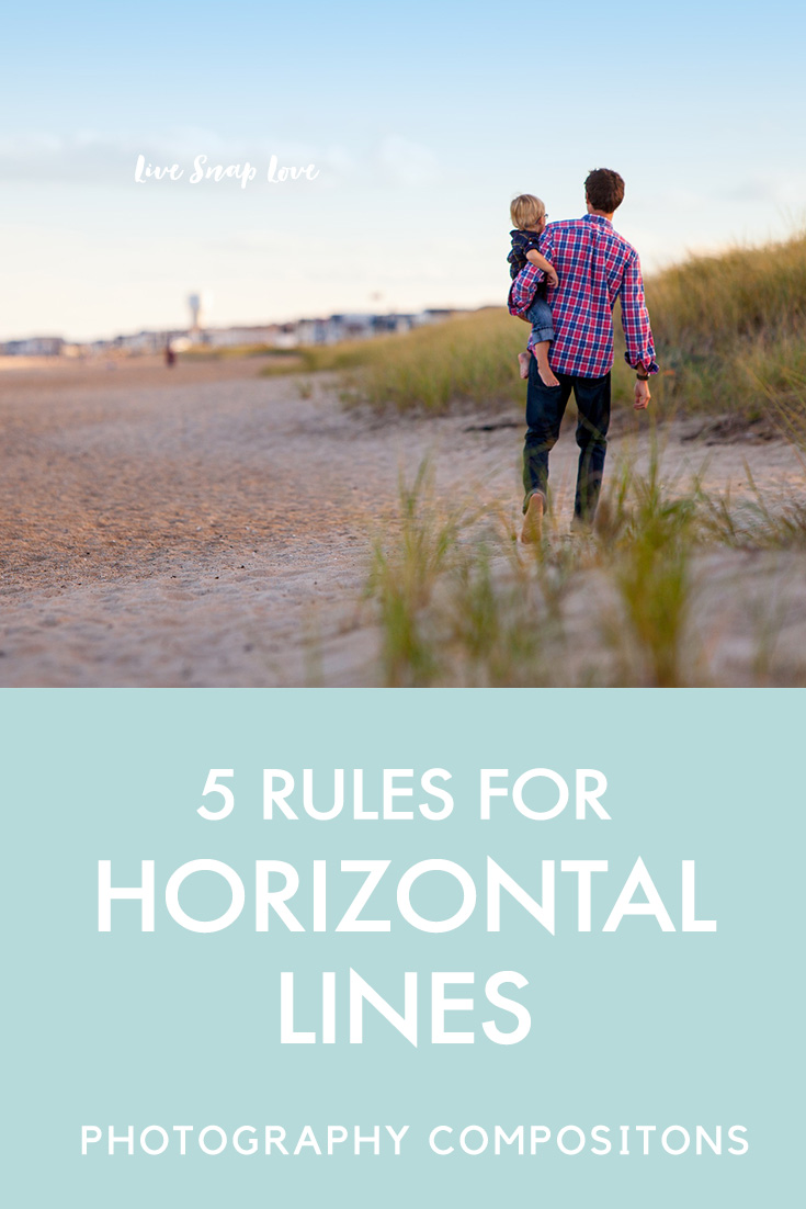 Do you know the 5 rules for horizon lines in your images? Click through to read all the tips in this photography compositional tutorial by Live Snap Love.
