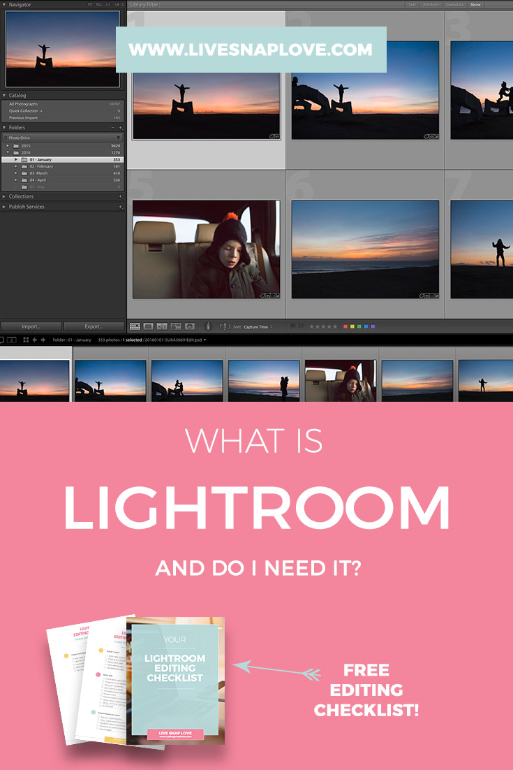 What LIghtroom is, and how it compares to Photoshop.