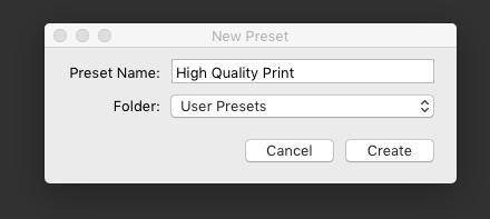 How to create an export preset in Lightroom