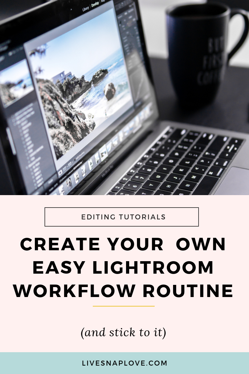 Learn how to create your own Lightroom workflow in this Lightroom tutorial. Plus grab yourself a Lightroom editing workflow cheatsheet.
