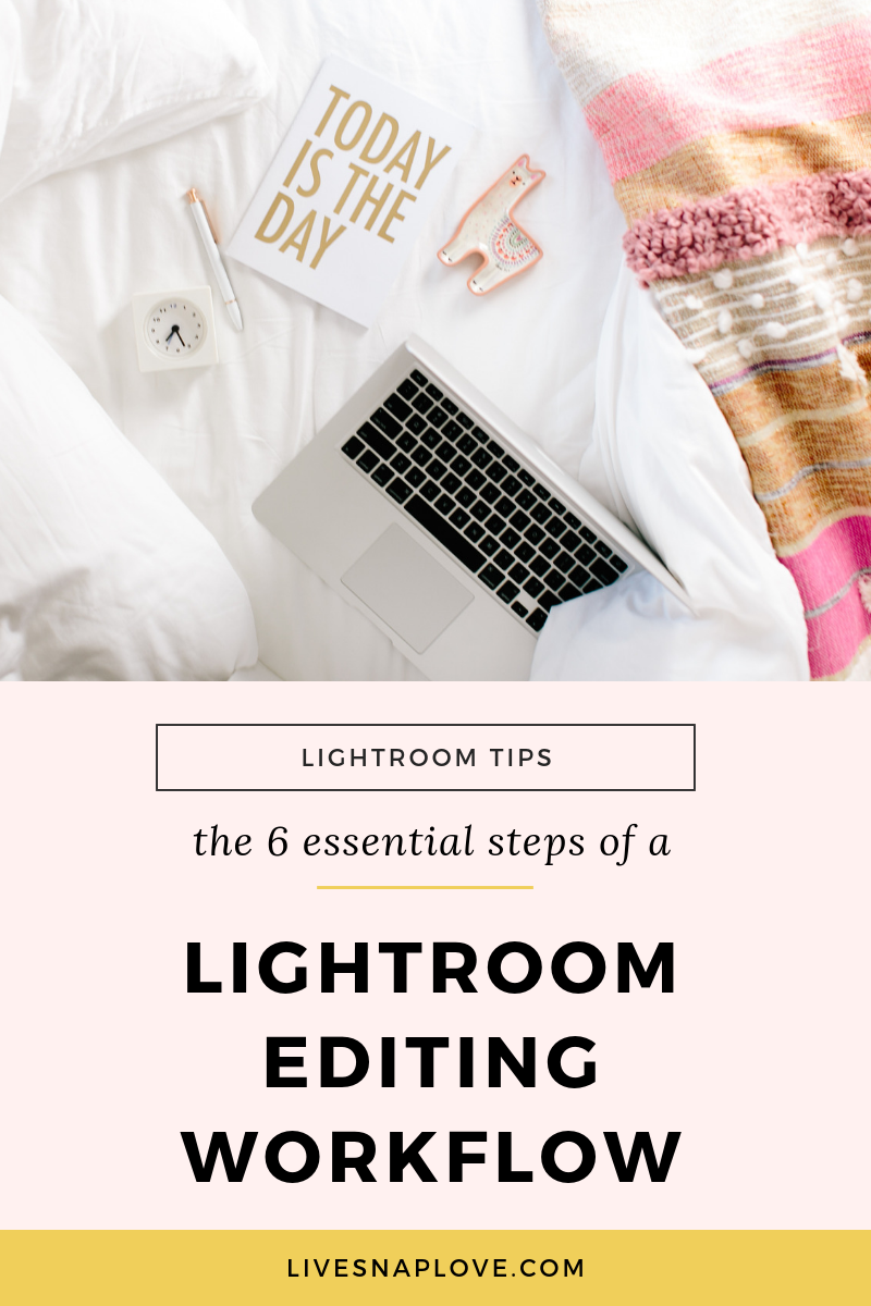 Learn the six essential steps of a Lightroom workflow in this video lightroom tutorial!  Lightroom Tips