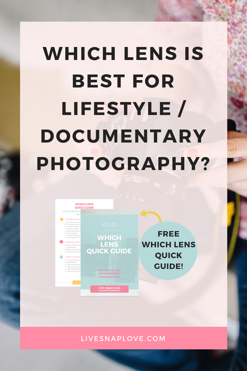Learn which camera lens to use and which camera lens to buy for your lifestyle photography images!