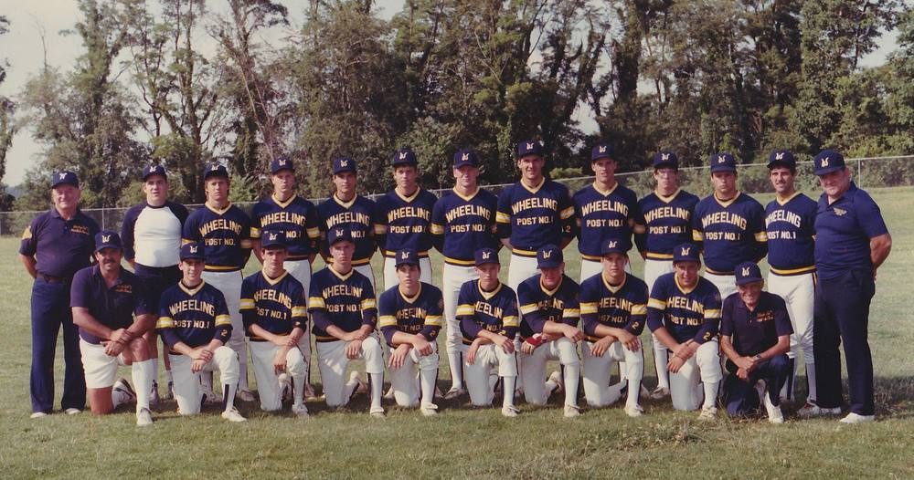 Kneeling L-R: Coach Walters, Thomas, Mazure, Campbell, Torbet, Frohnapple, Jamison, Horbie, Jack  Standing L-R: Coach Tipper, Donnie, Hughes, Tatar, Blazier, Krieger, Parsons, Ron Stephens, Steve Novotney, Rogers, Ernest, Costine, Coach Koehler