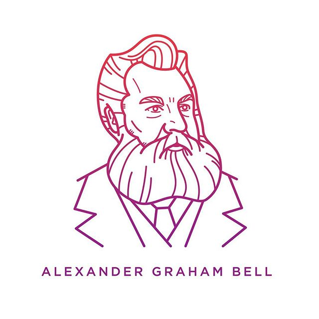"""On March 10, 1876, Alexander Graham Bell first transmitted speech over a telephone, summoning his assistant in another room with the famous words, """"Mr. Watson, come here; I want you."""" He not only revolutionized communication but, remarkably, also saw its future.  #Disrupt #HallmarkCLS"""