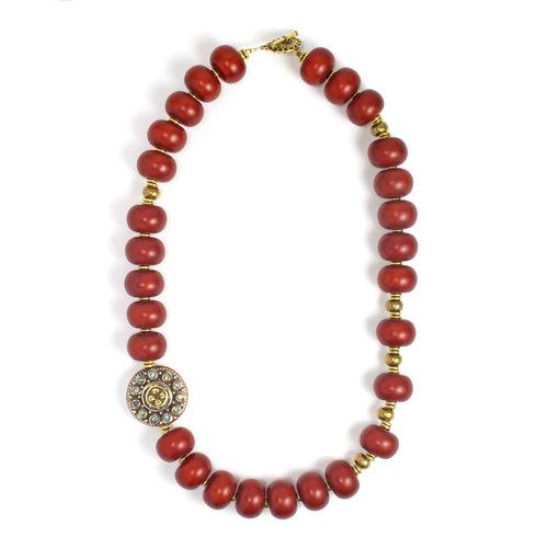 red african amber necklace saskia de vries designs
