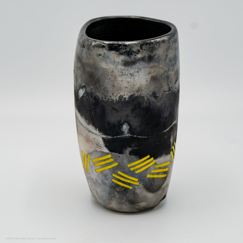 Vessel - pit fired / stoneware and porcelain