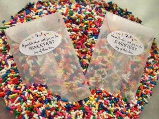 Sprinkles definitely make for a sweet exit.