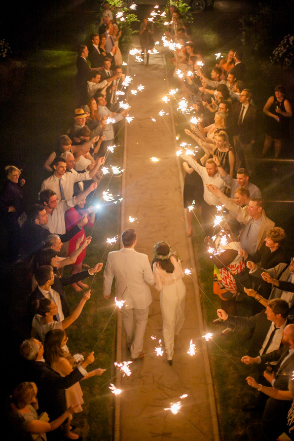 The sparkler send off has become very popular in the past few years as they make for amazing pictures.