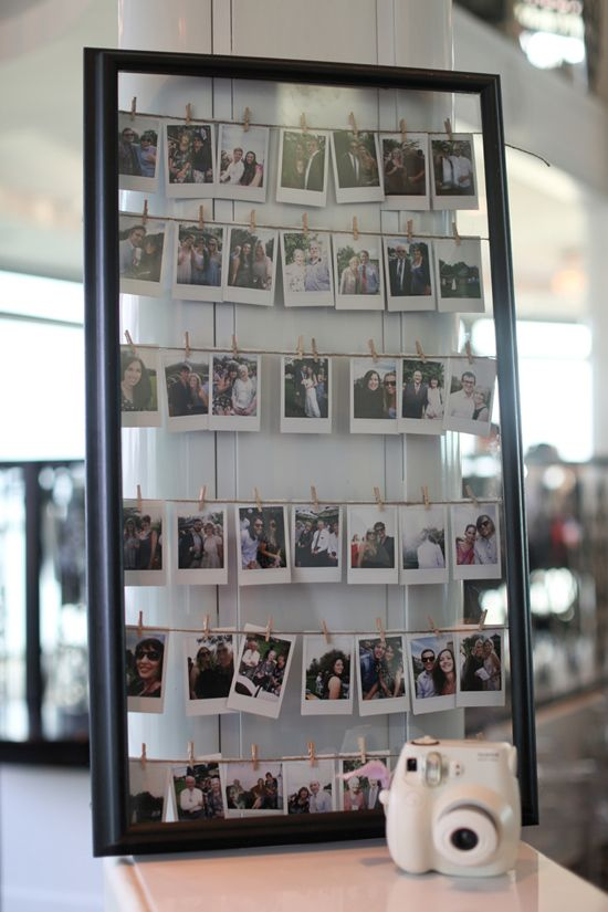 FUN FUN FUN! Break out the Polaroid and take pictures of your guest to sign and display.