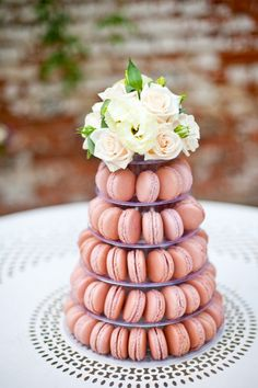 Personalized macaroons to fit your wedding color scheme.