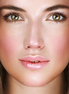 Airbrushed makeup, as seen here, makes for a more flawless look and is usually applied by professionals.