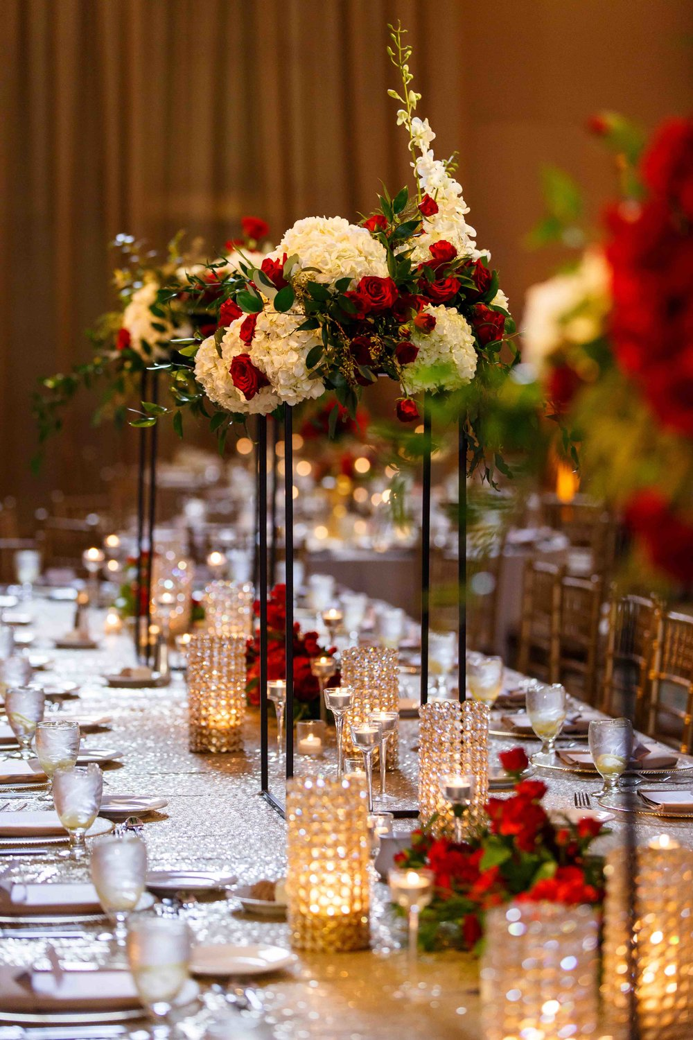 large luxury_red_flower_centerpiece_Cincinnati_florist