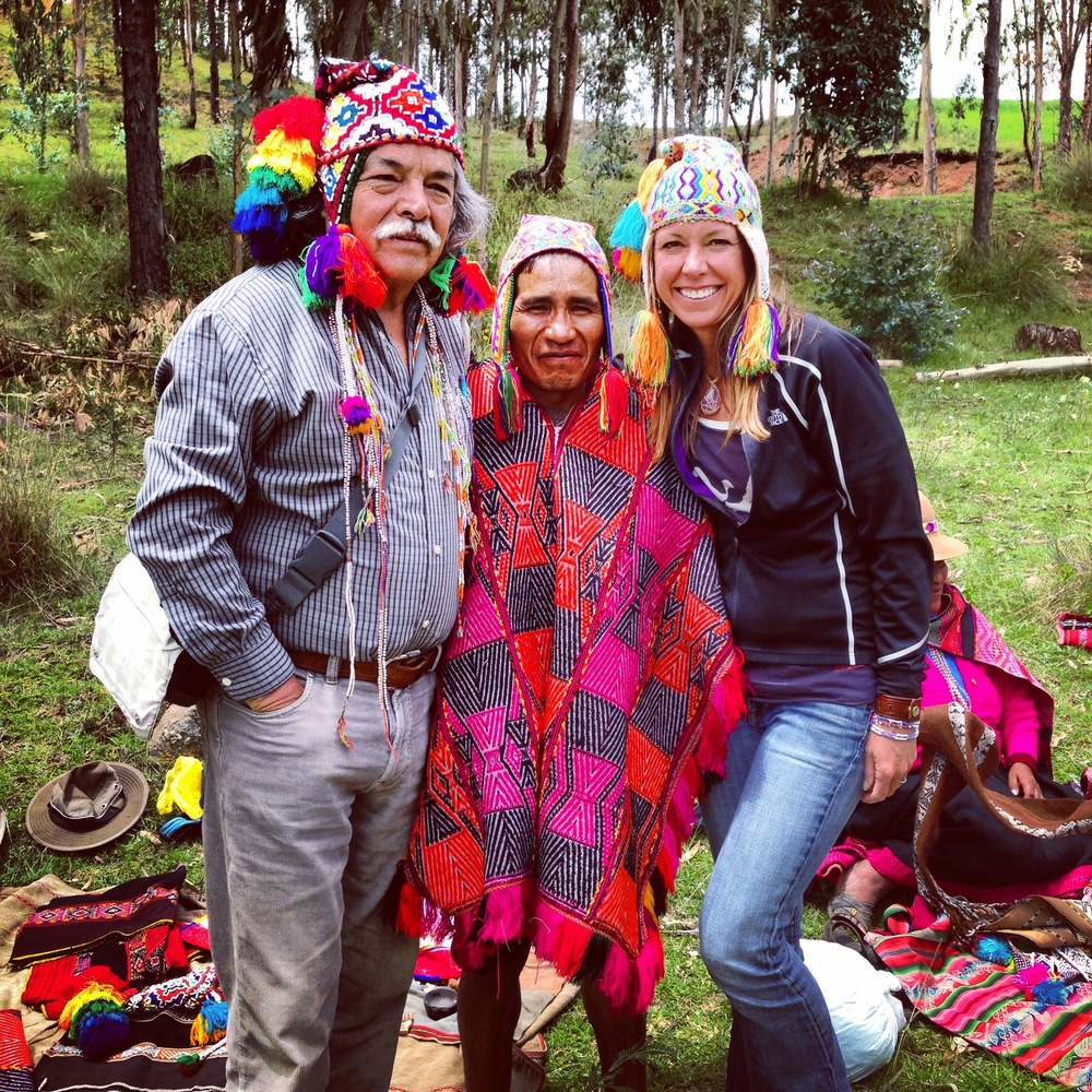 Don Americo Ybar and Melissa during a sacred Andean Q'ero Indian ceremony