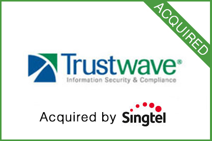 Sold to  Singtel     Leading provider of on-demand data security and PCI compliance software