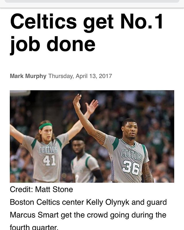 Look who got the job done!!! Been a great season.  #celtics #bostonceltics #nba #nbaplayoff #bleedgreen #celticspride #celticsnation #celticsfan4life