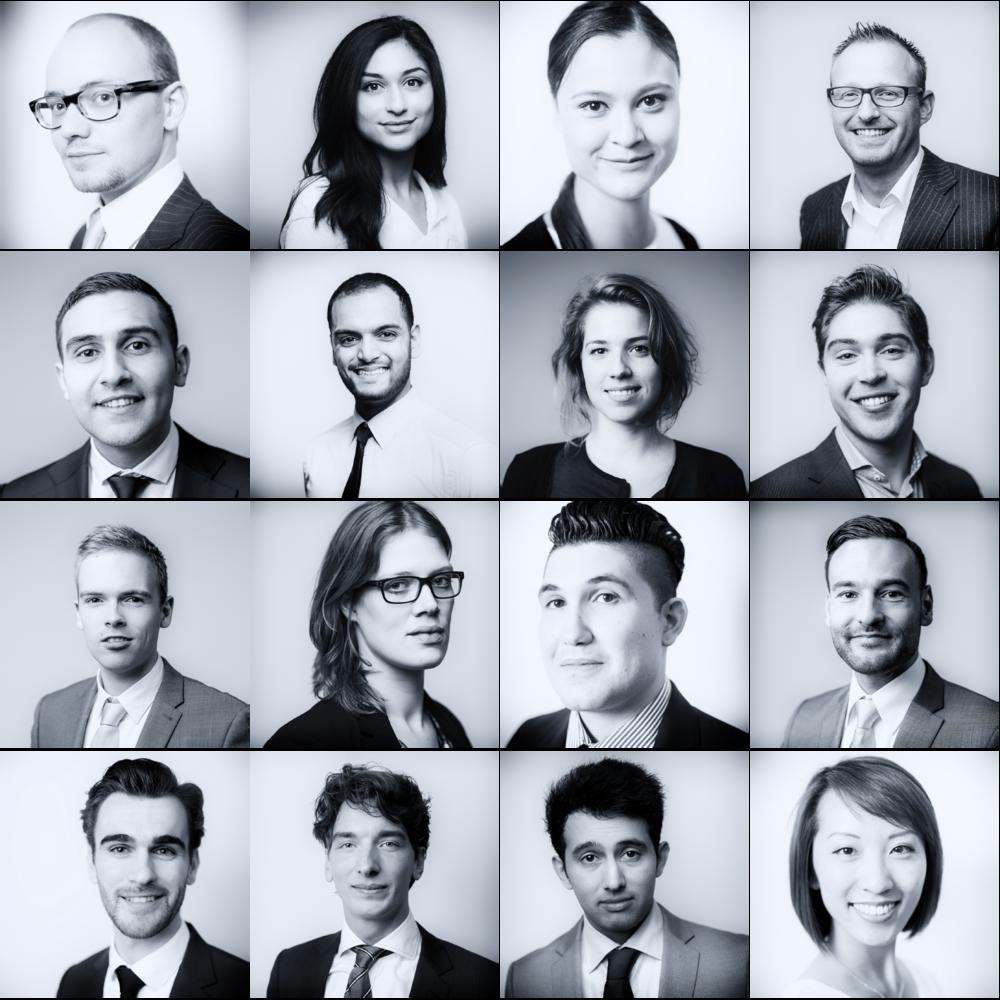 Profielfoto's gemaakt bij het Ministerie van Financiën.