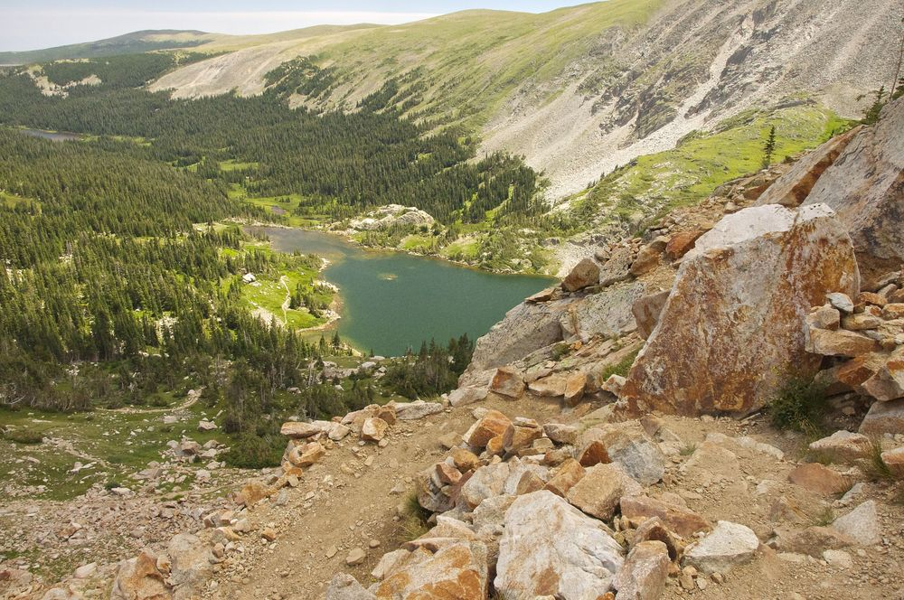 Pawnee Pass has breathtaking views east and west of the divide.