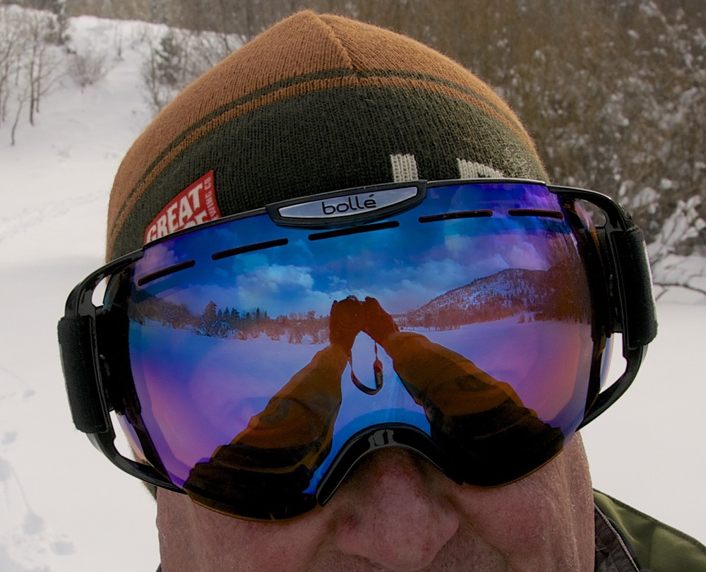 Ski goggles can come in handy during winter months to protect against wind and snow.