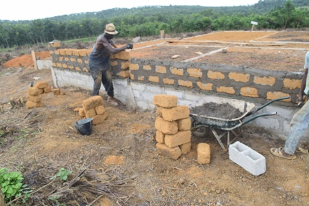 Bricks laying