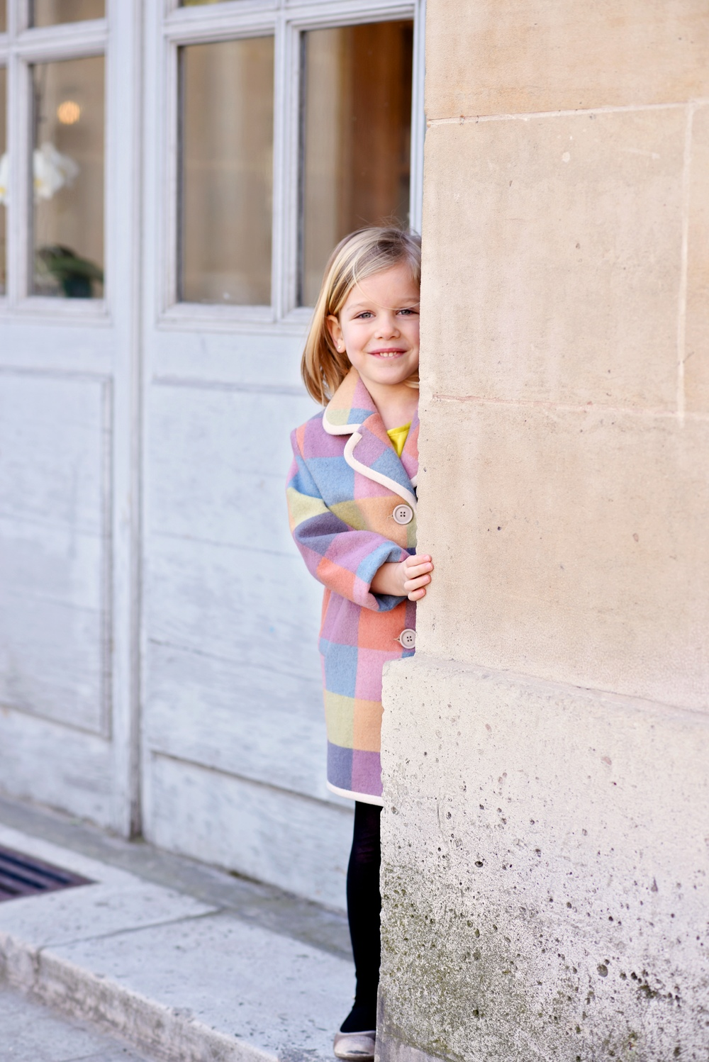 Enfant Street Style by Gina Kim Photography mini preen coat