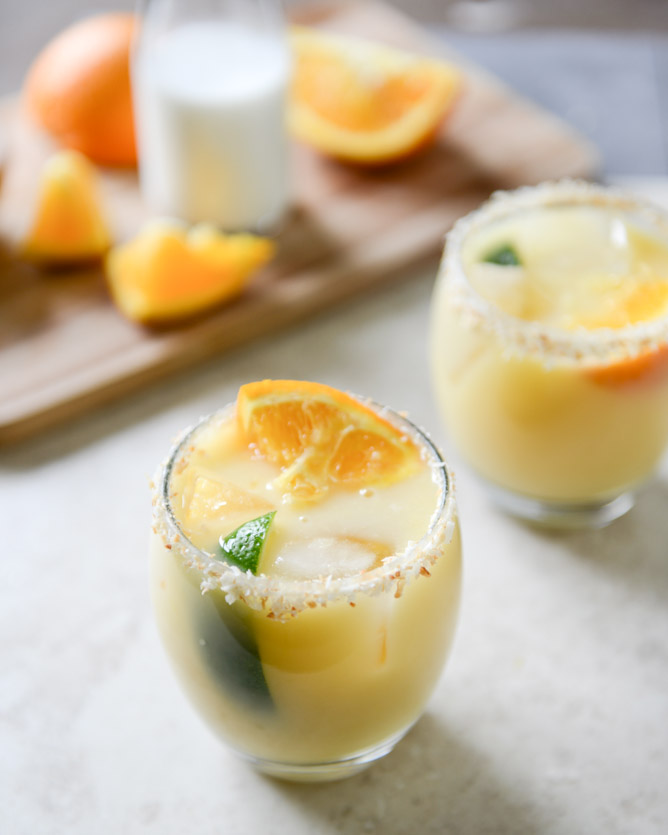 Coconut Creamsicle Margarita from How Sweet it Is