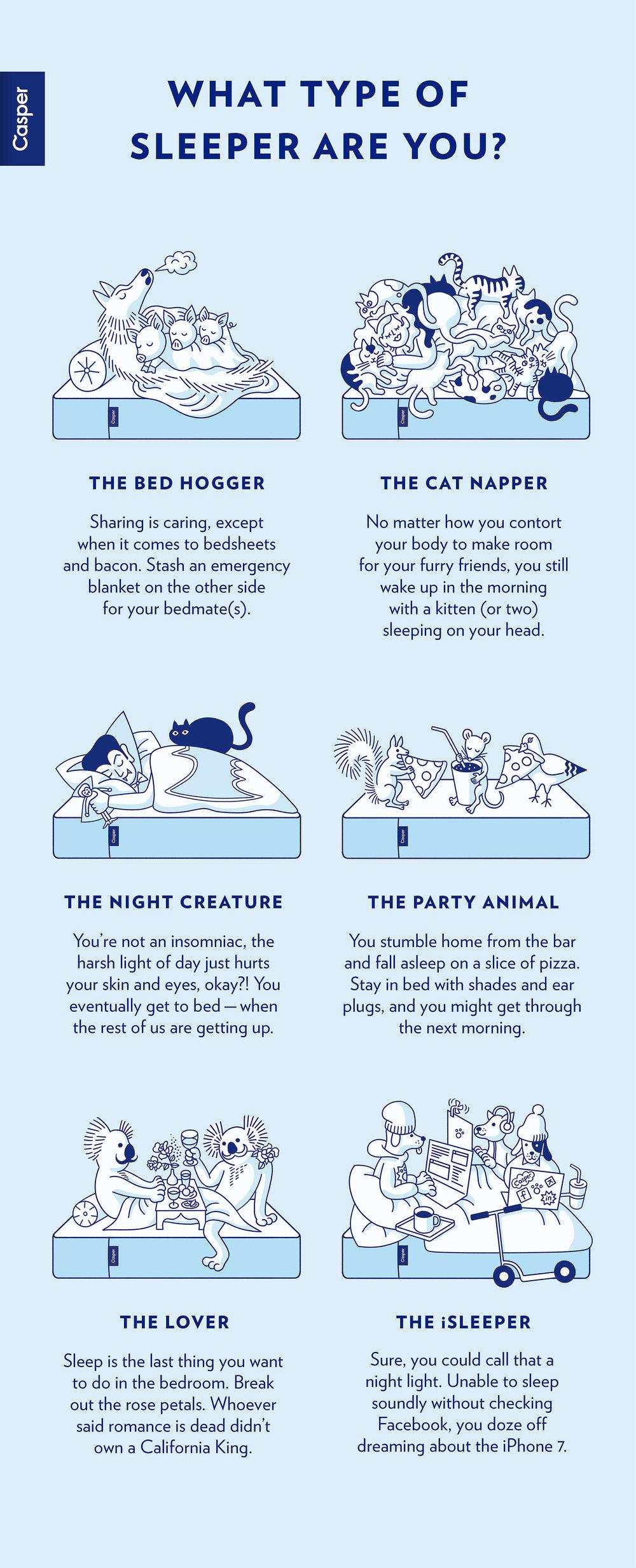 Casper Sleep Types