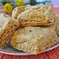 Sweet Potato Cornmeal Biscuits
