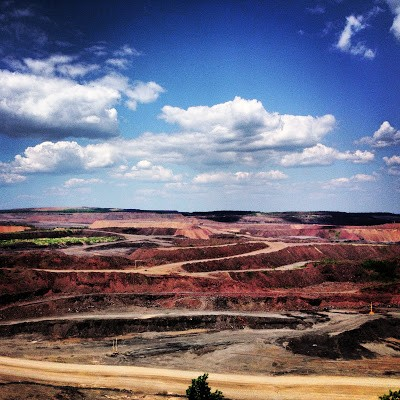 View of the Hull-Rust Mine in Hibbing, MN - Largest Open Pit Iron Mine in the World.