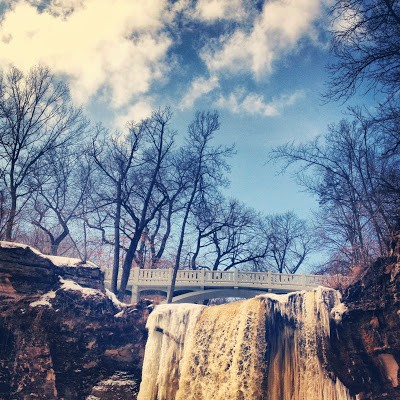 Minneopa Waterfall in Minneopa State Park outside of Mankato. Just thawing out.