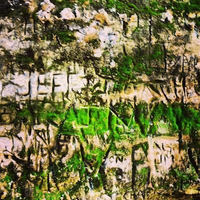 Rock Graffiti at Minneopa State Park.