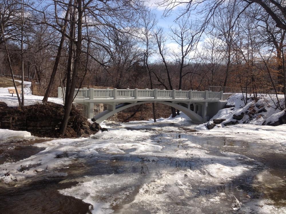 Winter in Minneopa State Park