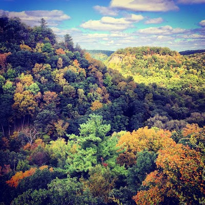 The fall foliage at Whitewater State Park