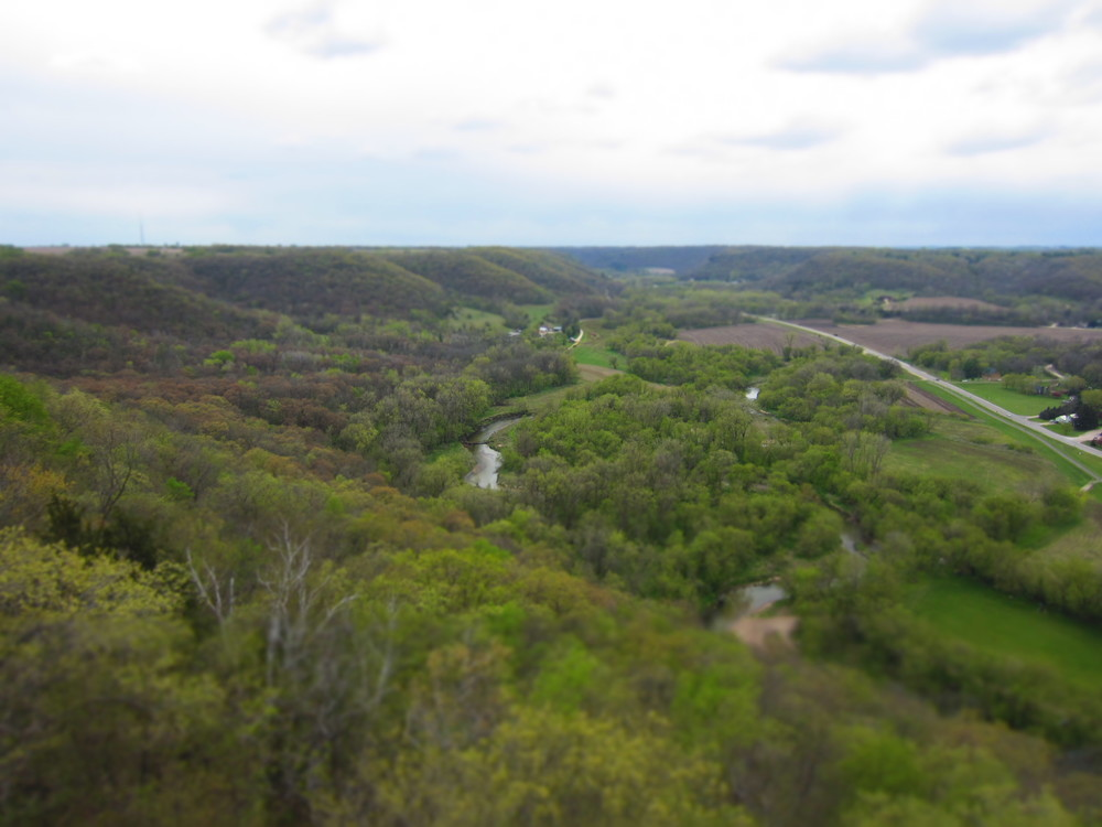 Firetower overlook near Whitewater State Park