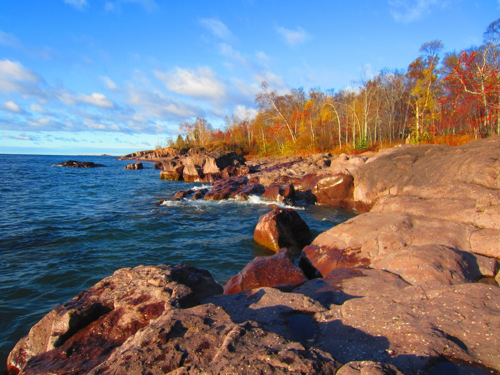 Fall Colors on Lake Superior at Temperance River State Park