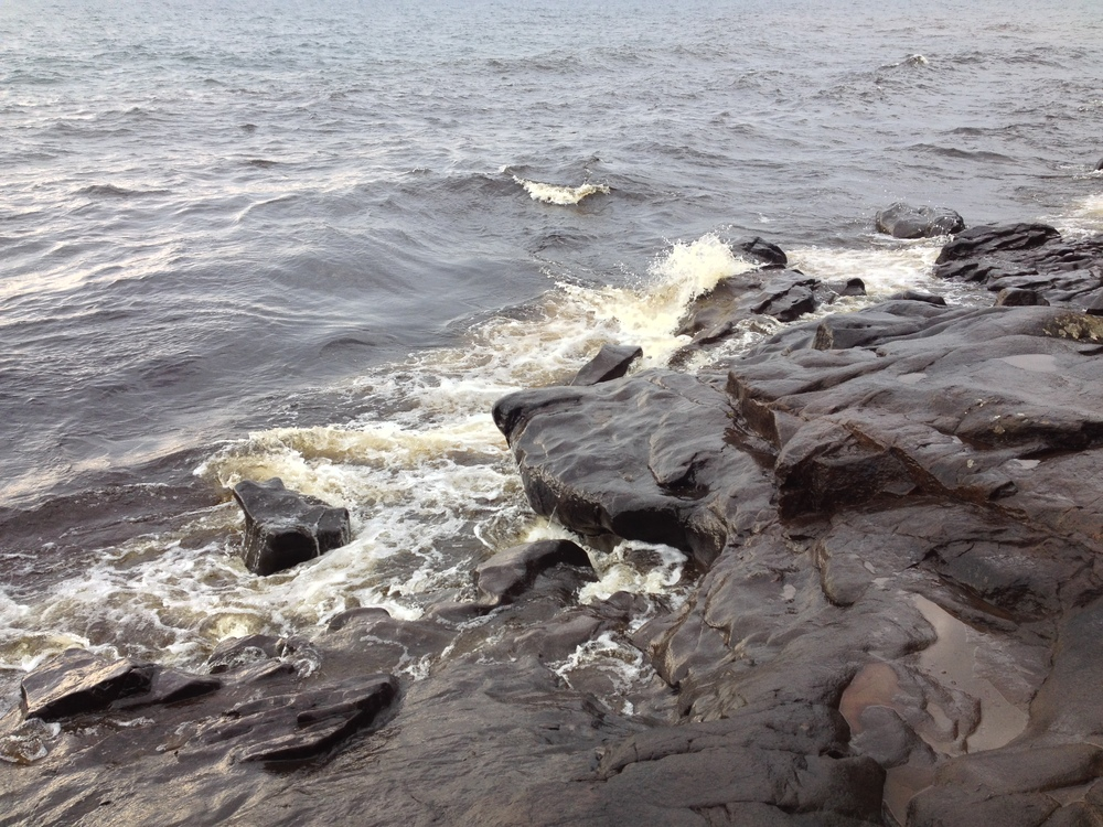 Rocky Lake Superior shore at Cascade River State Park