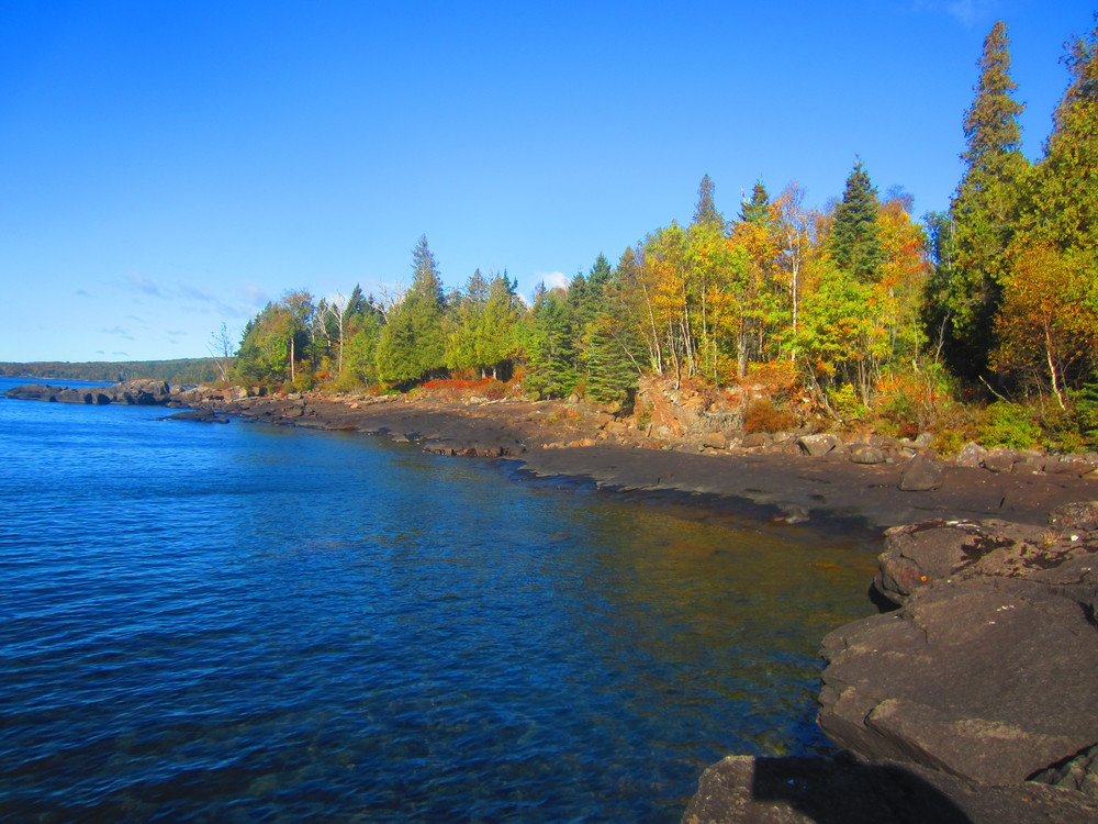 Superior National Forest reaches down to Lake Superior