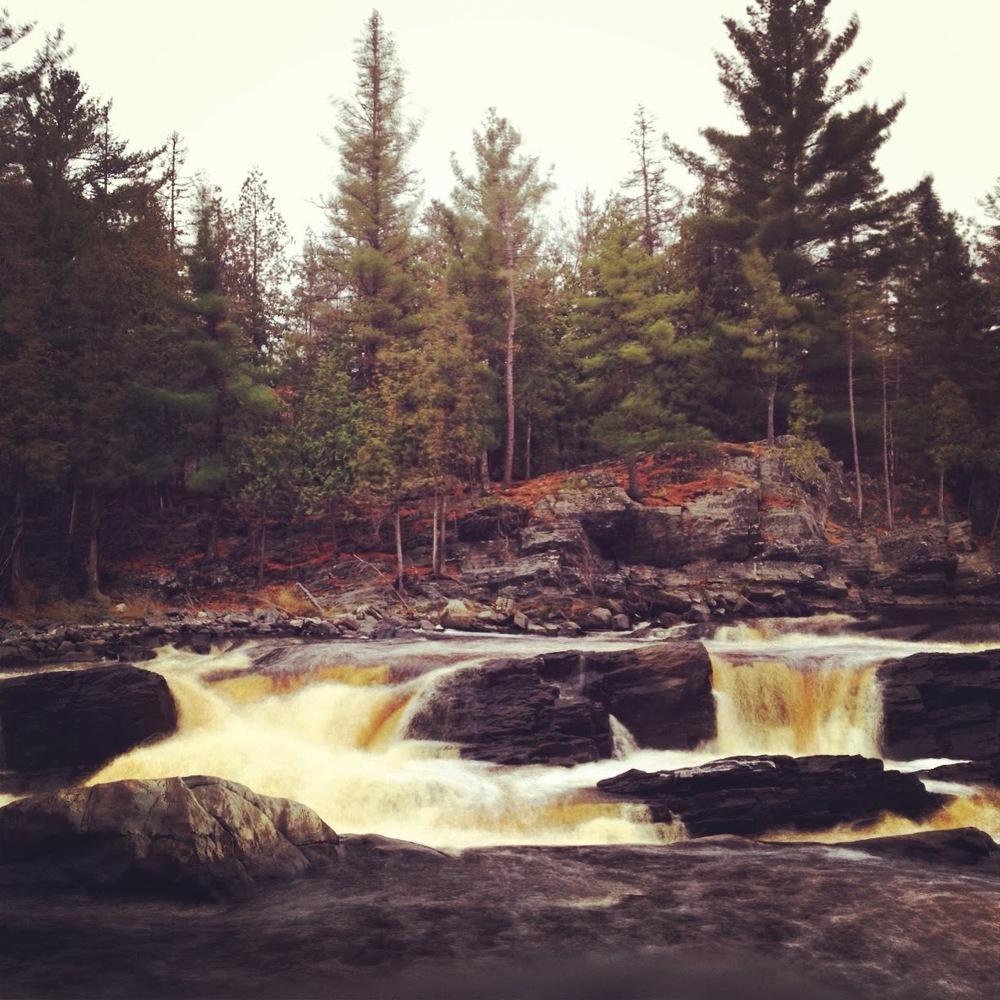 The rapids on the St. Louis River at Jay Cooke State Park. Believe it or not, we saw people kayaking over these and even larger cascades.