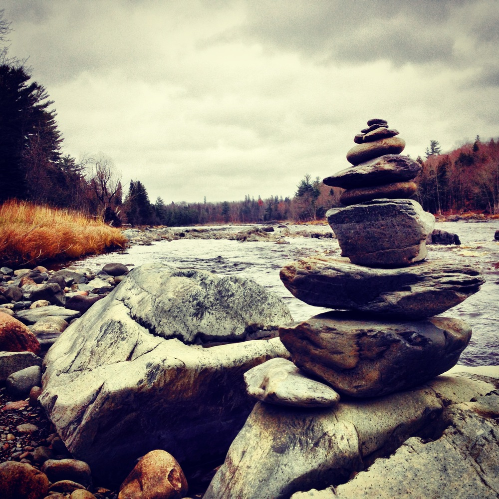 Rock Cairn on the Banks of the St. Louis