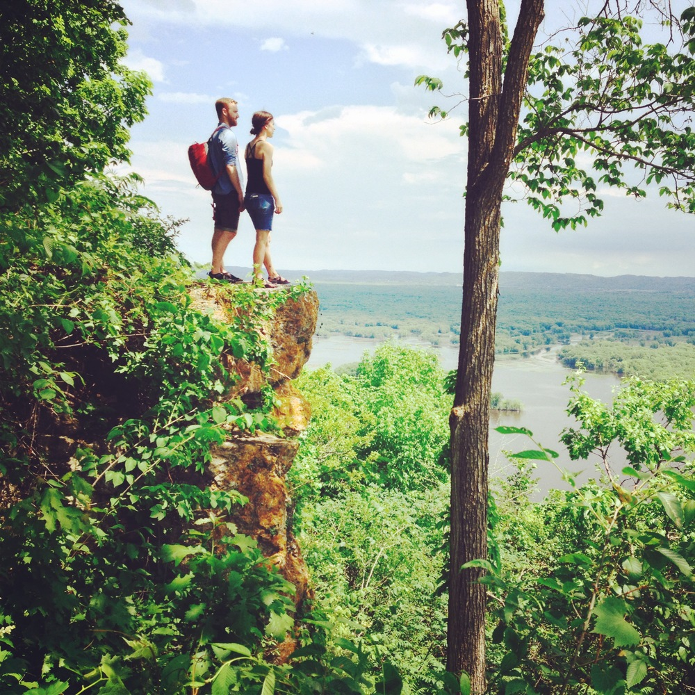 Overlooking the Mississippi River Valley at Great River Bluffs State Park