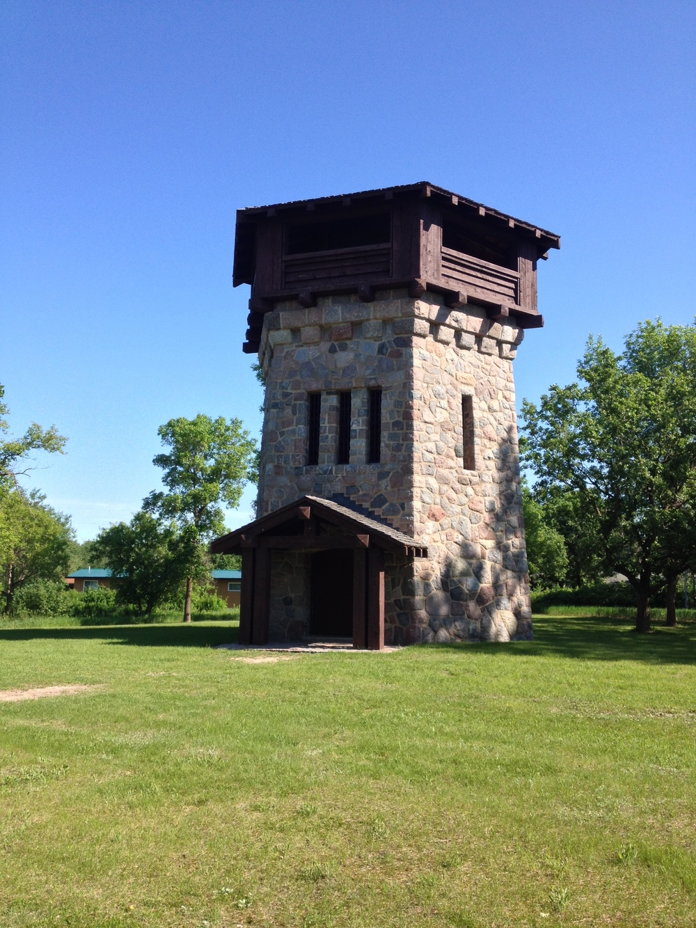 The CCC Watertower. Lake Bronson was host to one of the largest CCC Camps in the state.