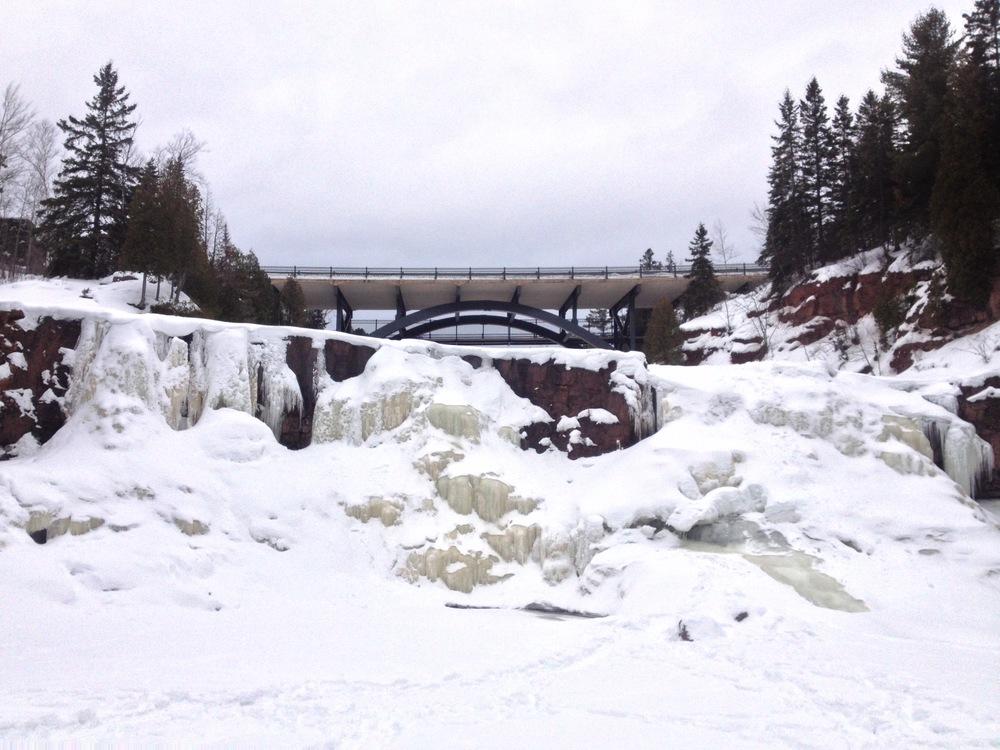 Gooseberry Falls Frozen