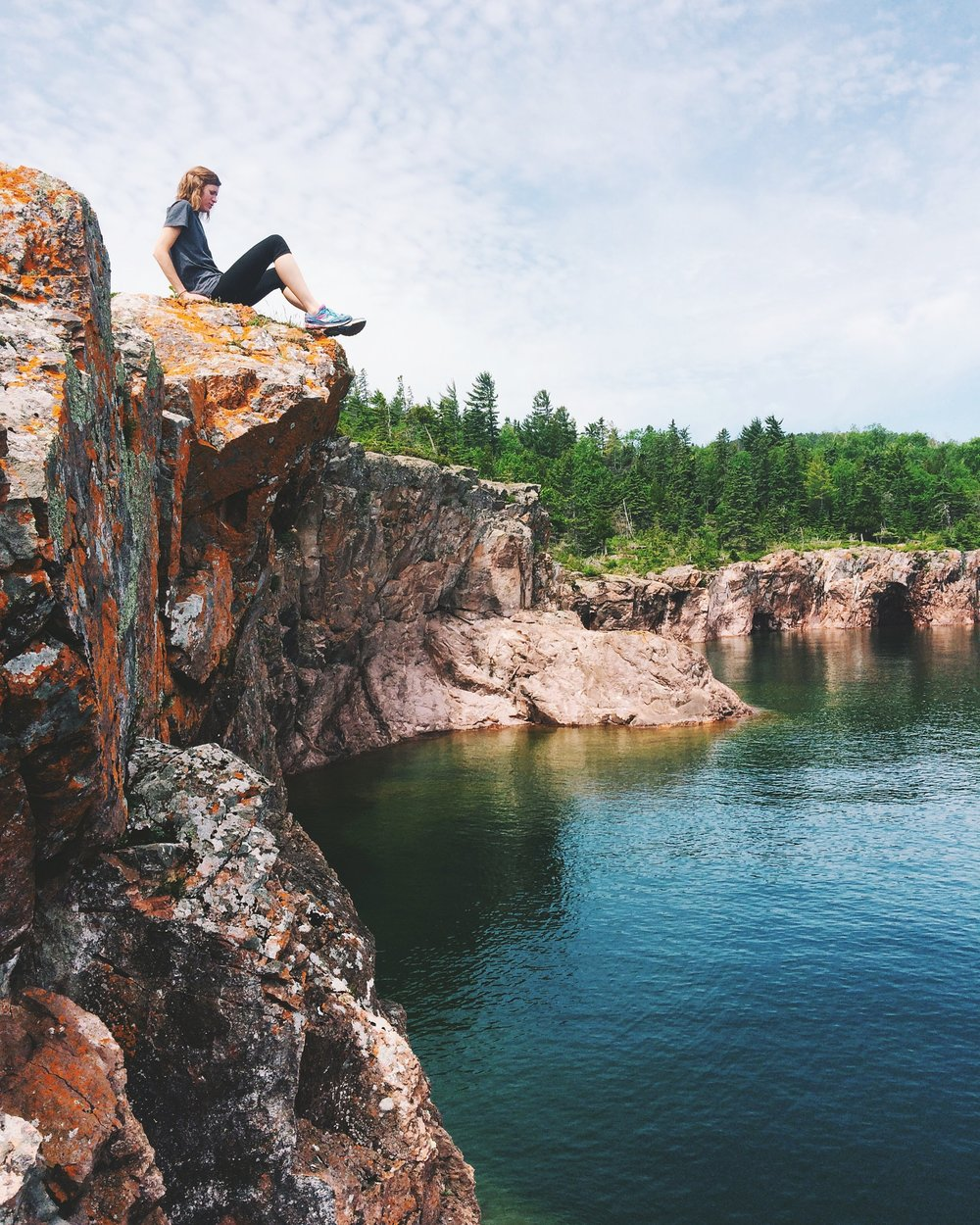 The cliffs at Shovel Point in Tettegouche State Park