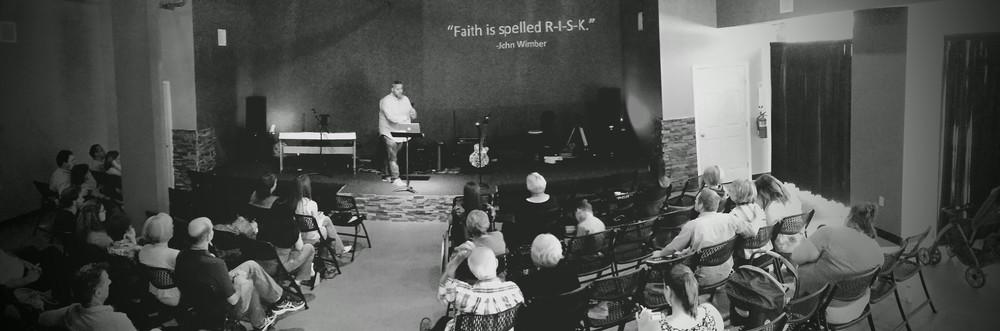 Randy teaching on Audacious faith