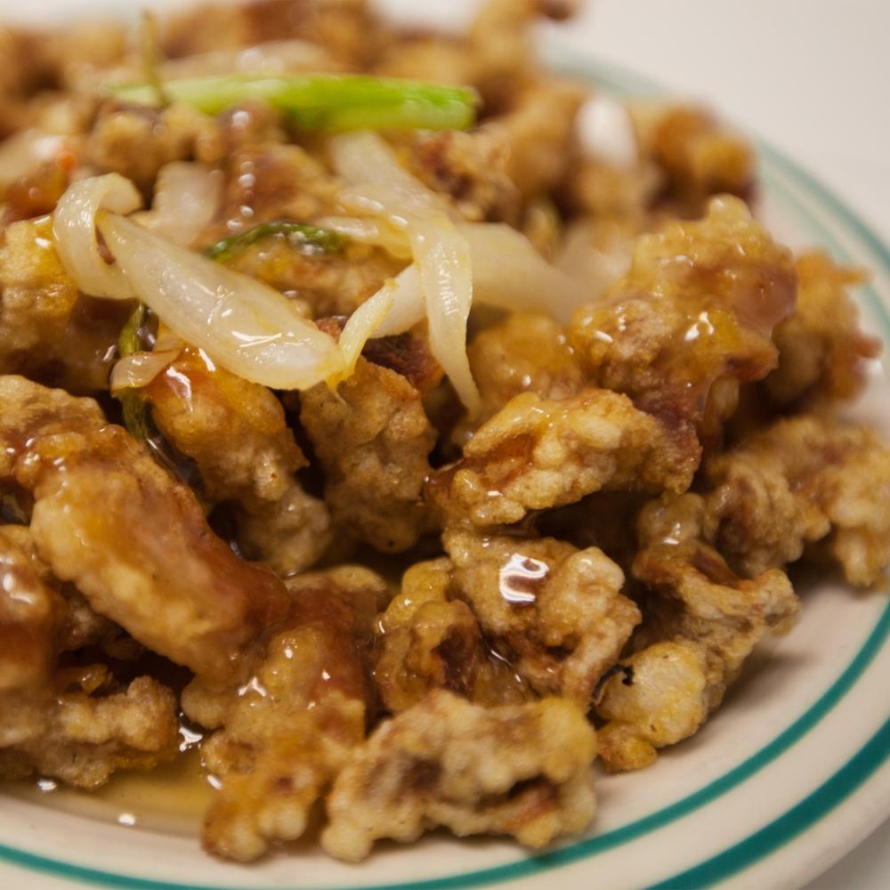 유자 탕수육 Deep Fried Pork & Yuzu Sauce $19.95