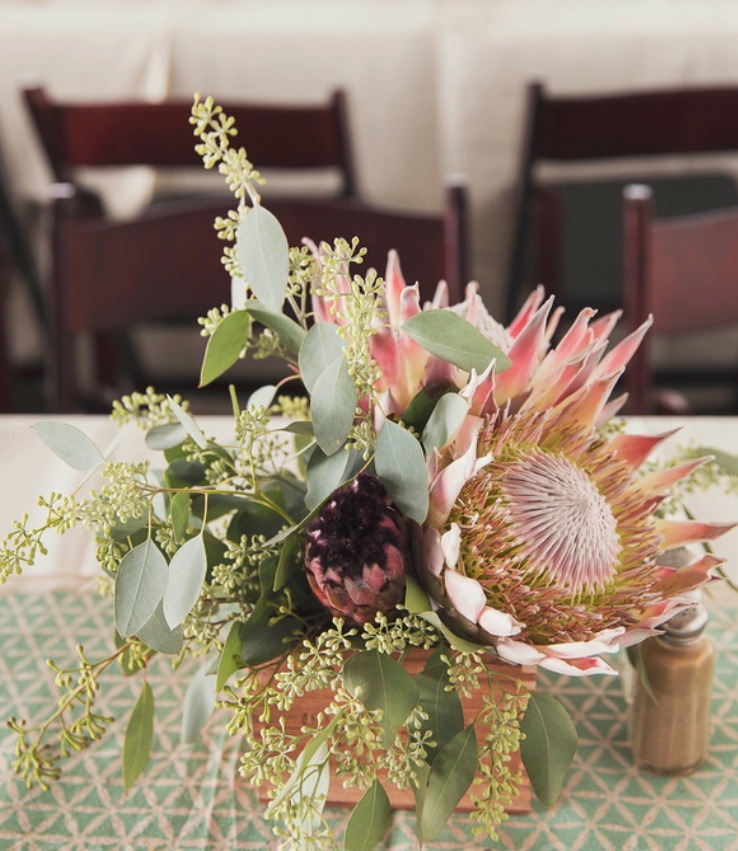 Hawaii King Protea Rustic Wedding